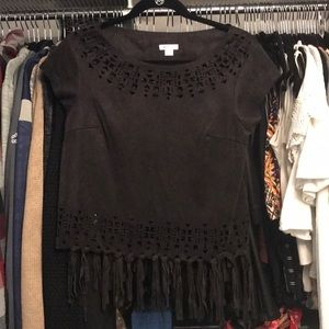 Cutout & Fringe Top